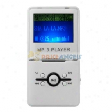 Fashion 2gb Usb Rechargeable 1.5-inch Lcd Screen Hynix Flash Mp3 Player With Speaker(white)