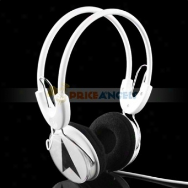 Fashionable 3.5mm Jack Adjustable Stereo Headset Headphone Earphone For Mp3 Mp4 Pc Cd(black Star)