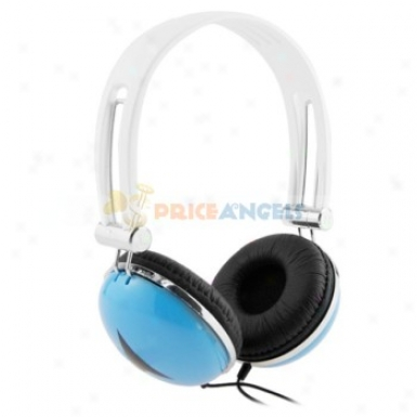 Fashionable Adjustable 3.5mm Stereo Headset Headphone Earphone For Mp3 Mp4 Cell Phone(blue)