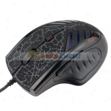 Fc-1460 3200dpi Usb 2.0 Optical Scroll Wheel Gaming Mouse/mice For Laptop/pc(black Pattern)