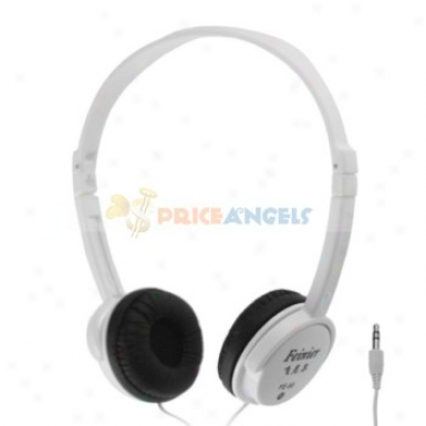 Feinier Fe-90 Compact Adjustable On-ear Stereo Hezdphone Headset(white)