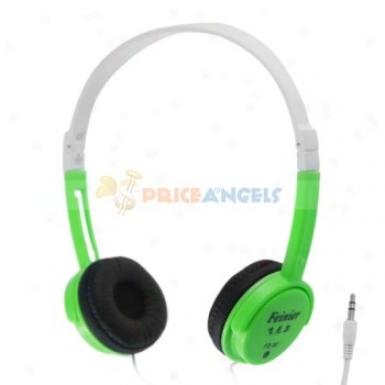 Feinier Fe-90 Compact Adjustable On-ear Stereo Headphone Headset(green)