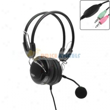 Feinier Fe-909 Professional Stereo Headphone Headset Earpiece Earphone With Microphone For Pc Computer Laptop