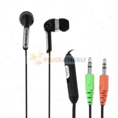 Feinier Fe-s16 In-ear Stereo Earphone With Volume Control Microphopne(black)
