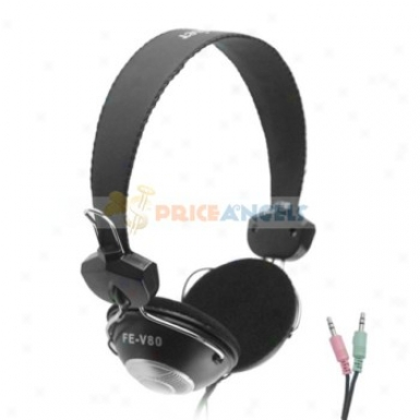 Feinier Fe-v80 On-ear Hi-fi Stereo Headphone Headset With Microphone And Volume Control
