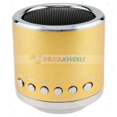 Feinier Mini Cylinder Usb Powered Multimedia Speaker With Micro Sd Slot For Pc Mp3 Mp4 Player(yellow)