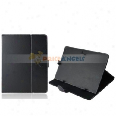 Full Protective Leather Case Cover For 10-inch Tablet Pc(black)