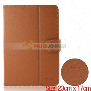 Full Protective Leather Case Cover For 8-inch Tablet Pc(brown)