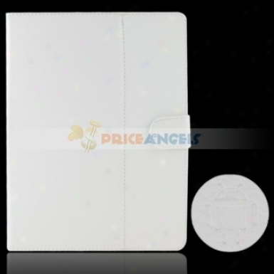 Full Protective Leather Case Cover For 9.7-inch Tablet Pc(white)