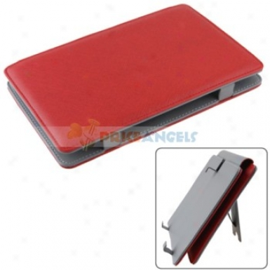 Full Protectiv Leather Case Cover With Stand For 7-inch Tablet Pc(red)