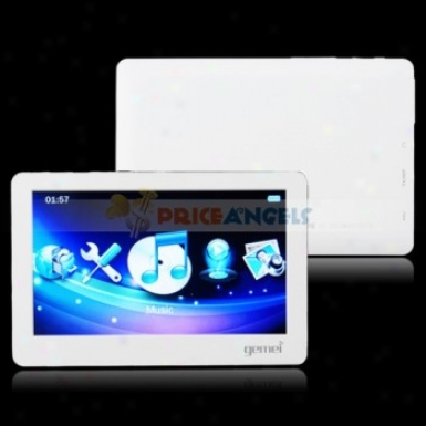 Gemei Hd8800 Portable 4gb 4.3-inch Lcd Touch Mp5 Player With Music/movie/fm/recorder/photo/ebook/calcluator/tv-out(white)