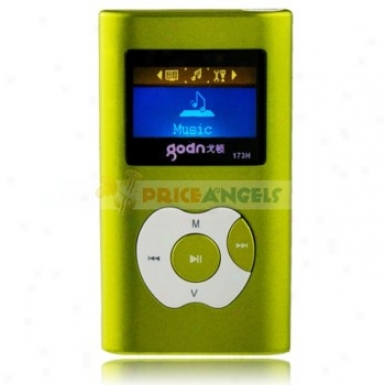 Goodn A173h 2gb 1.4-inch Screen Stereo Mp3 Player With Speaker(green)