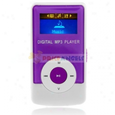Godn G33 2gb 1.1-inch Screen Stereo Mp3 Player With Speaker(purple)