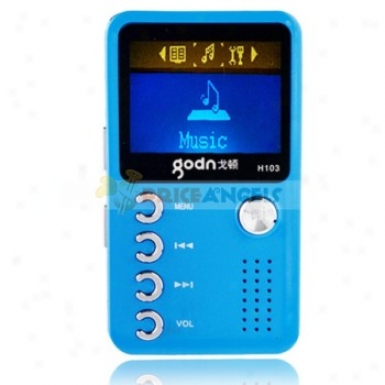 Godn H103 2gb 1.4-inch Screen Stereo Mp3 Player With Speaker(blue)