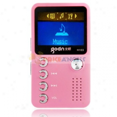 Godn H103 2gb 1.4-inch Screen Stereo Mp3 Player With Speaker(pink)