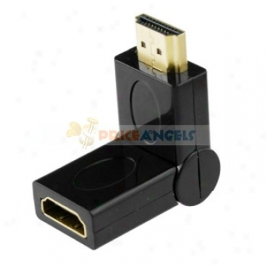 Gold Plated Hdmi Male To Female Adapter Converter(rotated 90 Degree)
