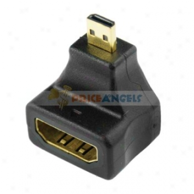 Gold Plated Micro Usb To Hdmi Female Adapter Converter(90 Degree)