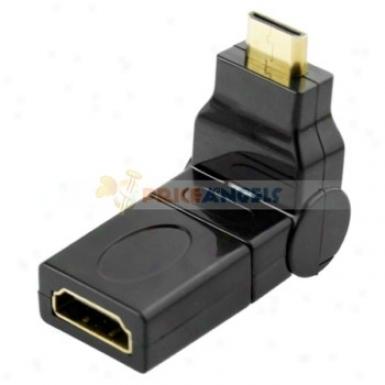Gold Plated Retractable Mini Hdmi Male To Hxmi Female Adapter Converter