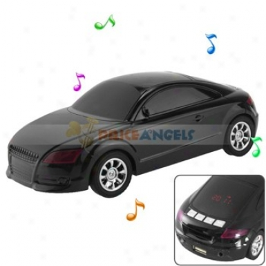 Hi-fi Desk-ornamental Car Shaped Multimedia Stereo Speaker With 3.5mm Jack For Mp3 Computer Enclosed space Phone(black)