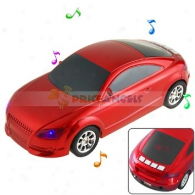 Hi-fi Desk -ornamental Car Shaped Multimedia Stereo Speaker With 3.5mm Jack For Mp3 Comuter Cell Phone(red)