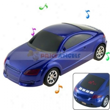 Hi-fi Desk-ornamenral Car Shaled Multimedia Stereo Speaker With 3.5mm Jack For Mp3 Computer Cell Phone(blue)