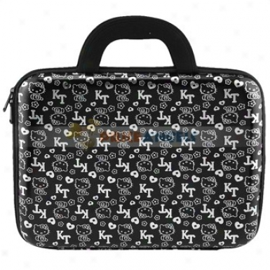 High-grade Hard Carrying Bag Case With Kitty Patterns For Laptop/notebook/pc(black)