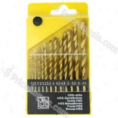 Hss Twist Drills Set(13-piece/golden)