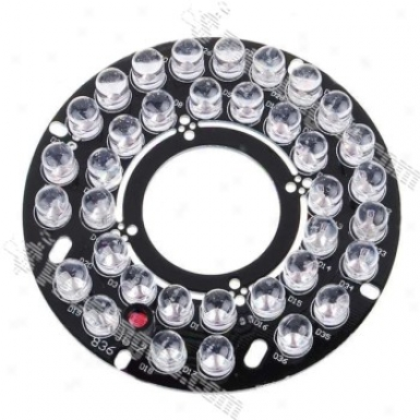 Infrared 36-1ed Illuminator Food Plate For 12mm / 16mm Lens Cctv Security Camera