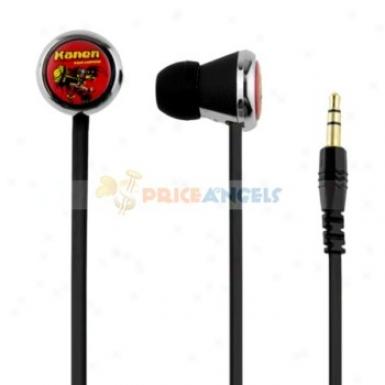 Kanen 3.5mm In-ear Headset Earphone Earpiece Wifh Mirophone/volume Control For Mp3 Mp4 Player