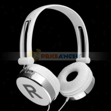 Kanen Adjustable Stereo Headphone Headset Earphones With Microphone For pM Mp4 Cd Player(white)