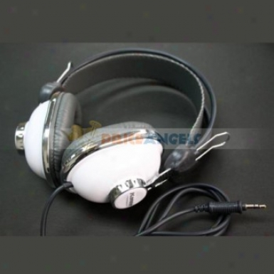 Kanen Km-740 White Overhead Headphone Headset For Itouch