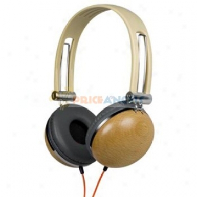 Kanen Km880 Wooden Stereo On-ear Dj Headphone Earphone