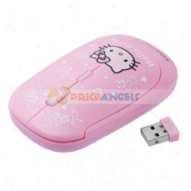Kitty Pattern 10m 2.4g Usb Wireless Optical Mouse For Pc Laptop
