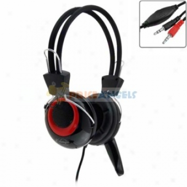 Koinycoi Kt-1800mv 3.5mm Jack Stereo Headset Headphone With Microphnoe/volume Control For Laptop Pc(black)