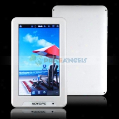 Koyopc Mr21 8gb Andeoid 4.0 Gingerbread 7-inch Capacitive Touch Screen Tablet Pc Laptop With Camera Wifi G-sensor Hdmi(white)