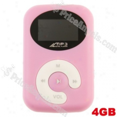 Lovley 0.8-inch Tft Lcd Mini Usb Clip Digital Mp3 Player With Micro Sd/tf Card Slot(pink)