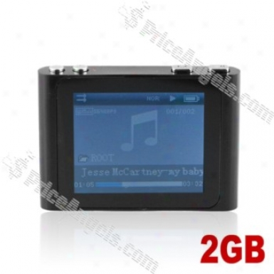 Lovley 1.8-inch Lcd Screen Multifunctional Mini Digital Mp3 Mp4 Sd Card Media Player With Clip-2gb(black)