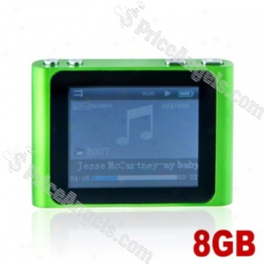 Lovley 1.8-inch Lcd Screen Multifunctional Mini Digital Mp3 Mp4 Sd Card Media Player With Clip-8gb(green)