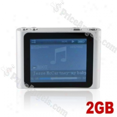 Lovley 1.8-inch Lcd Screen Multifunctional Mini Digital Mp3 Mp4 Sd Card Media Player With Clip-2gb(silver)