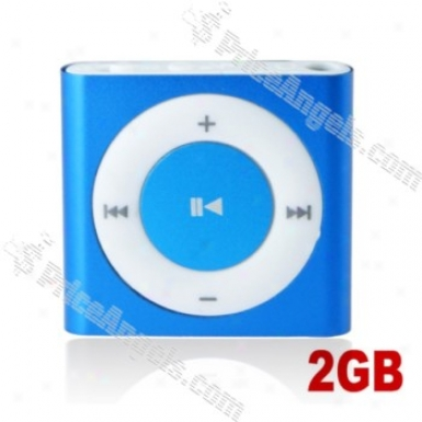 Lovley Square Shaped Screen-free Mini Digital Mp3 Palyer With Clip-2gb(blue)