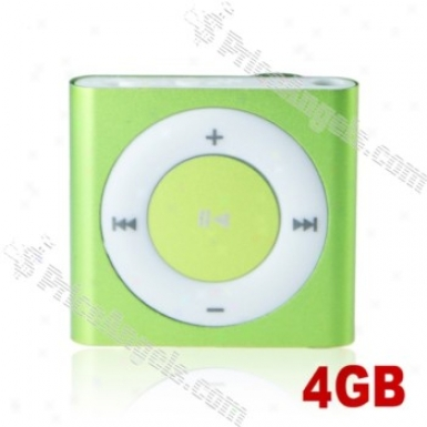 Lovley Square Shaped Screen-free Mini Digital Mp3 Gamester With Clip-4gb(green)