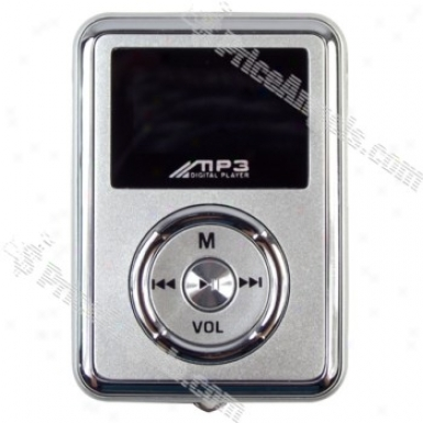 Mini 1-inch Lcd Usb Rechargeable Mp3 With Multi Languanges(2gb/sivler)