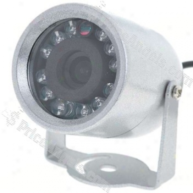 Mini Cmos Surveillance Security Camera With 12-led Darkness Vision (dc 12v)