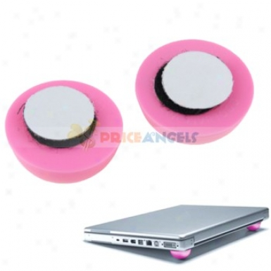 Mini Copl Ball Cooler Stand Heat Reduction Cooler + Skidproof Pads For Laptop Notebook - Pink