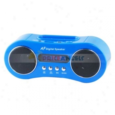 Mini Digital Fm Radio Stereo Speaker Music Player With Tf Slot/apple Interface
