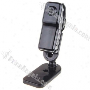 Mini Dv80 Usb Rechargeable 300k Pixel Camcorder / Spy Camera With Microsd / Tf Card Slot&multi-bracket And Carry Chain