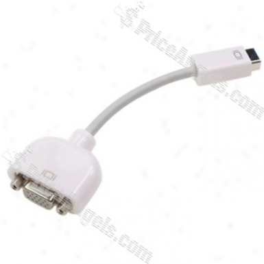 Mini Dvi Male To Vga Female Adapter Cable (15cm Cable)