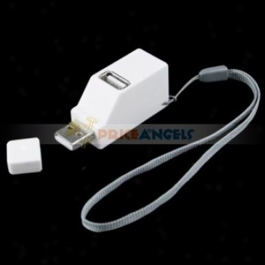 Mini Portable 3 Ports Usb 2.0 Hi-speed Extension Hub For Pc Laptop(white)