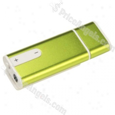 Mini Usb Flash/jump Drive Rechargeable Mp3 Player Upon Clip(2gb/green)