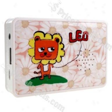 Mini Usb Rechargeable Mp3 Music Speaker-sd/usb Slot(cartoon Lion)